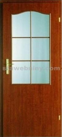 PORTA Dveře vnitřní VERTE BASIC lakované 2/3 rámeček - sklo činčila š. 90cm jabloň pravé