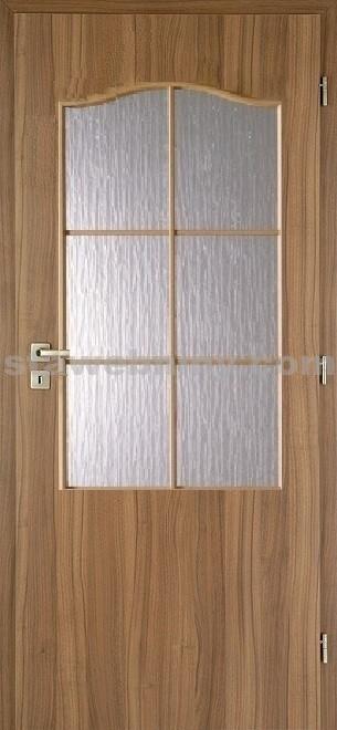 PORTA Dveře vnitřní VERTE BASIC lakované 2/3 rámeček - sklo činčila š. 70cm ořech levé
