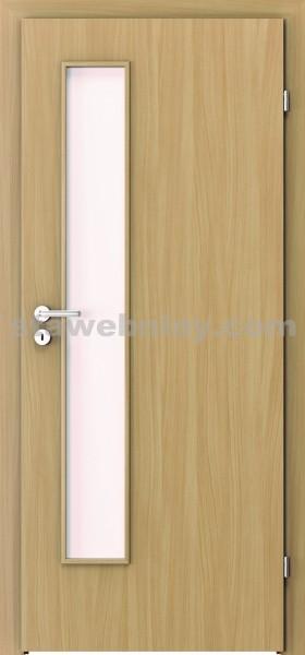 PORTA Dveře vnitřní VERTE BASIC lakované LIFT sklo činčila š. 60cm buk pravé
