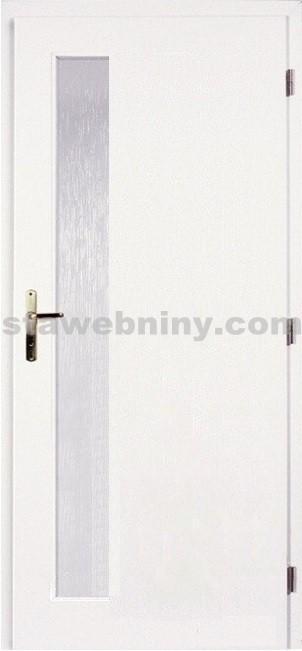 PORTA Dveře vnitřní VERTE BASIC lakované LIFT sklo činčila š. 80cm bílé pravé