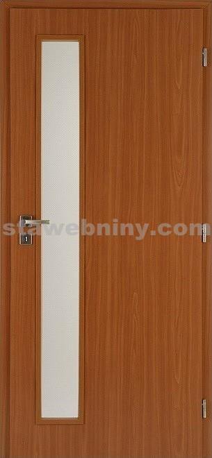 PORTA Dveře vnitřní VERTE BASIC lakované LIFT sklo činčila š. 80cm jabloň levé
