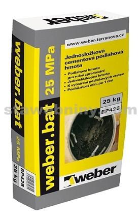WEBER.Bat potěr 25 MPa jemný - betonový potěr 25kg