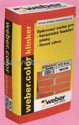 WEBER.Color klinker - spárovací malta pro fasádní pásky, přírodní kámen a lícové zdivo 10k