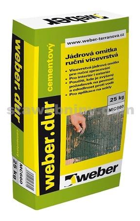 WEBER.Dur cementový - jádrová omítka 4mm 25kg