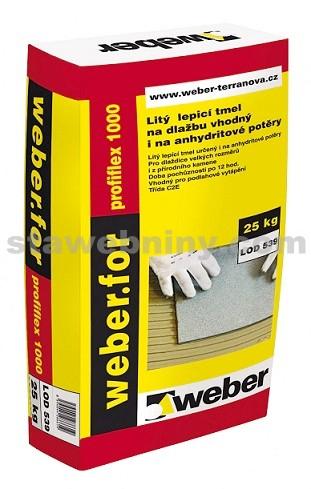 WEBER.For profiflex 1000 - low dust - na anhydritové potěry, nízkoprašná techn. 25kg