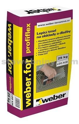 WEBER.For profiflex - low dust - flexibilní tmel C2T S1 nízkoprašná techn. 25kg