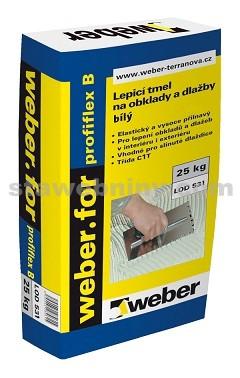 WEBER.For klasik B- bílý lepicí tmel C1T 25kg