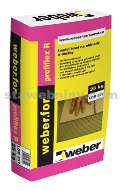 WEBER.For profiflex R - low dust - rychletvrdnoucí tmel C2TF S1 nízkoprašná techn. 25kg