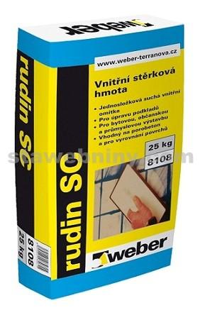 WEBER Rudin SC - vnitřní bílá stěrka na omítky, beton a pórobeton 25kg