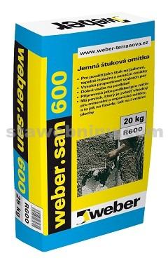 WEBER.San 600 - jemná štuková omítka 20kg