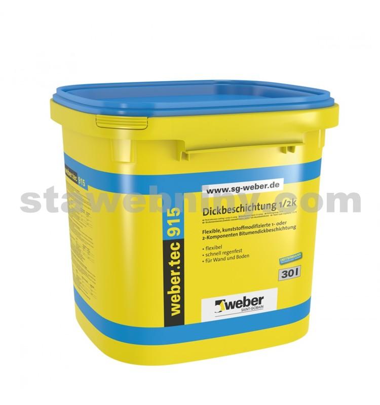 WEBER.Tec 915 - bitumenová hydroizolační a lepicí hmota 30l
