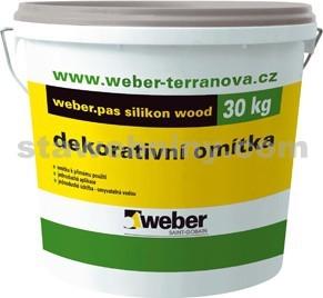WEBER.Pas silikon wood - textura dřeva - 30kg