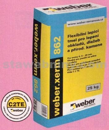 WEBER.Xerm 862 - lepicí tmel na přírodní kámen a klinker pásky 25kg