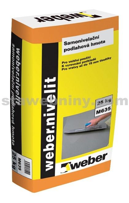 WEBER.Nivelit - samonivelační hmota 2-12mm, 25kg