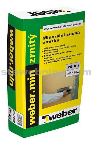 WEBER.Min - šlechtěná omítka bílá zrnitá 1mm 25kg
