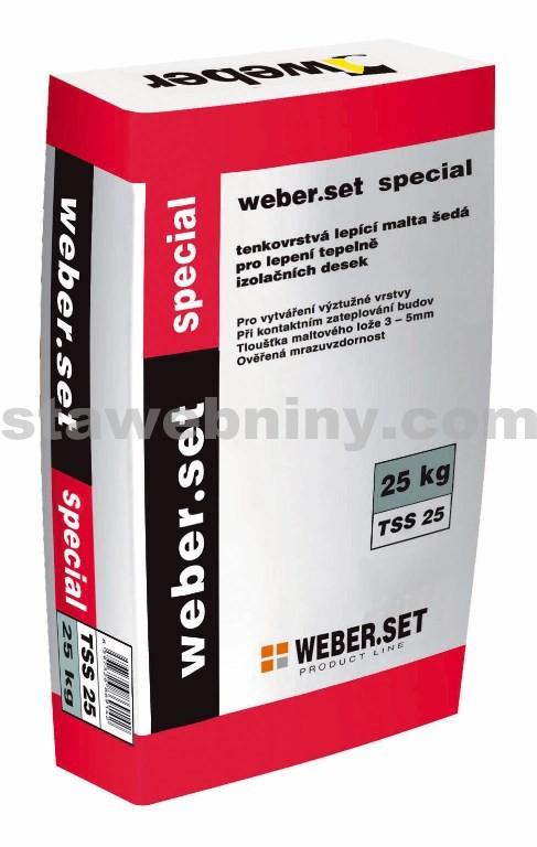 WEBER.Set speciál - lepicí a stěrkový tmel 25kg