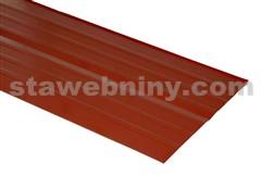 HPI Pás úžlabí hliník lakovaný  podélně profilovaný 2000/500mm hnědý