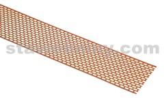 HPI Ochranný pás proti ptákům Al šířka 100mm oboustr. barvený hliník červená/hnědá