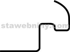 HPI Příchytka hřebenáčů Tondach č.2, 3, drážk. š. 21, 26cm, polodrážk. š. 18cm hnědá