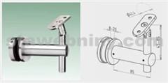 JAP Nerezový Krček madla pro schody mimo osu sloupku pro sklo, AISI 304