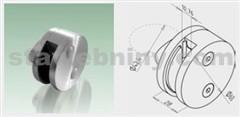 JAP Nerezový Držák kruhový krajní pro sklo 10,76mm, AISI 304