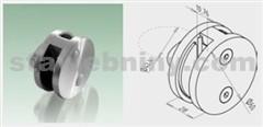 JAP Nerezový Držák kruhový průběžný pro sklo 8,76mm, AISI 304