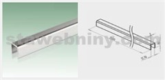 JAP Nerezové madlo U-profil pro sklo 12,76 mm, AISI 304