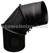 PRITY Koleno regulovatelné pr. 130mm 3 dílné s čistícím otvorem barva černá